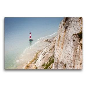 Premium Textil-Leinwand 75 cm x 50 cm quer Beachy Head Leuchttur