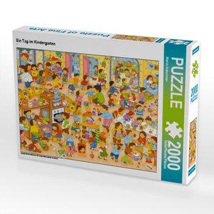 Ein Tag im Kindergarten 2000 Teile Puzzle quer