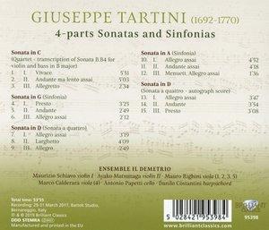 Tartini:Sonate A Tre/Sonate A Quattro
