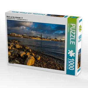 Blick auf die Altstadt - II 1000 Teile Puzzle quer