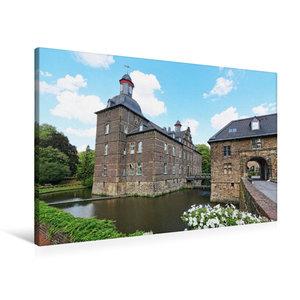 Premium Textil-Leinwand 90 cm x 60 cm quer Wasserschloss Hugenpo