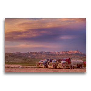 Premium Textil-Leinwand 75 cm x 50 cm quer Sonnenuntergang auf d