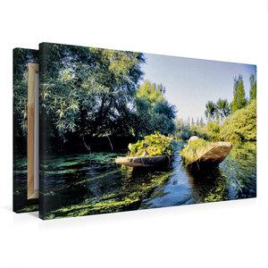 Premium Textil-Leinwand 75 cm x 50 cm quer Heimkehr vom Schwimme