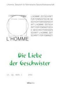 L' Homme 1/2002. Die Liebe der Geschwister