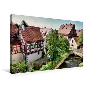 Premium Textil-Leinwand 90 cm x 60 cm quer Blick von der Stadtma