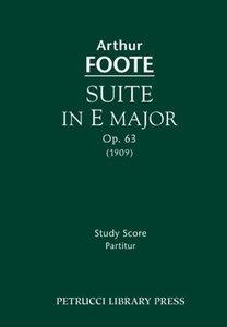 Suite in E Major, Op. 63: Study Score