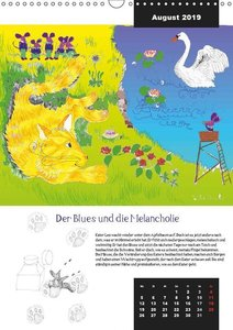 Die Geschichte von Kater Leo, dem Flederkater (Wandkalender 2019
