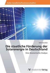 Die staatliche Förderung der Solarenergie in Deutschland