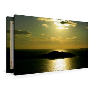 Premium Textil-Leinwand 90 cm x 60 cm quer Sonnenuntergang in Af