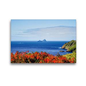 Premium Textil-Leinwand 45 cm x 30 cm quer Skellig Rocks, Irland
