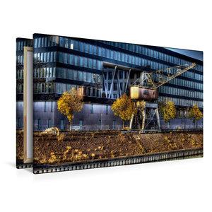Premium Textil-Leinwand 120 cm x 80 cm quer Duisburger Innenhafe