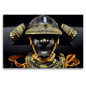 Premium Textil-Leinwand 120 cm x 80 cm quer Samurai