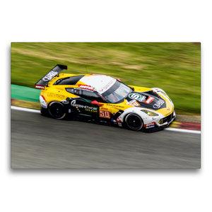 Premium Textil-Leinwand 75 cm x 50 cm quer Corvette C7.R GTE / L
