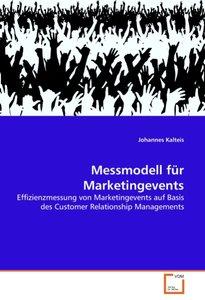 Messmodell für Marketingevents