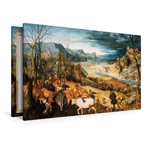 Premium Textil-Leinwand 120 cm x 80 cm quer Heimkehr der Herde (