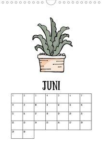 Kalender immerwährend minimalistisch - Kaktus Sukkulente & Co. (