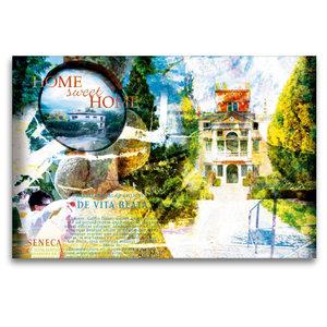 Premium Textil-Leinwand 120 cm x 80 cm quer home_sweet_home_1_1