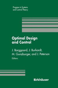 Optimal Design and Control