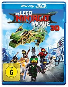 The Lego Ninjago Movie 3D, 1 Blu-ray