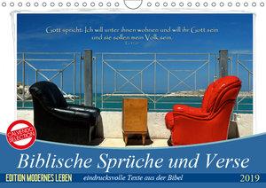 Biblische Sprüche und Verse (Wandkalender 2019 DIN A4 quer)