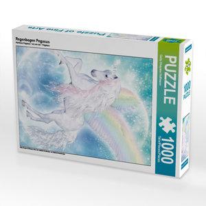 Regenbogen Pegasus 1000 Teile Puzzle hoch