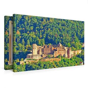 Premium Textil-Leinwand 75 cm x 50 cm quer Schloss Heidelberg