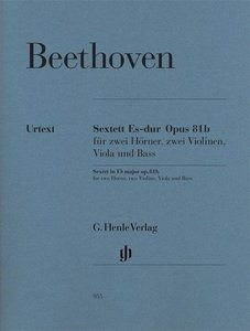 Sextett Es-dur op. 81b für zwei Hörner, zwei Violinen, Viola und
