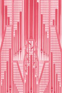 Premium Textil-Leinwand 50 cm x 75 cm hoch Pink Art
