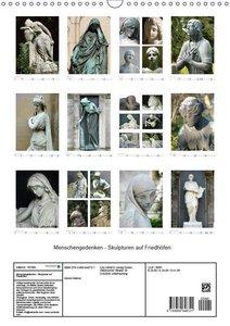 Menschengedenken - Skulpturen auf Friedhöfen (Wandkalender 2019