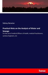 Practical Hints on the Analysis of Water and Sewage