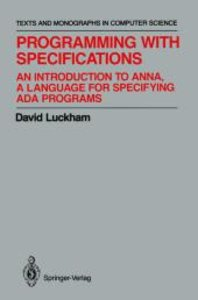 Programming with Specifications