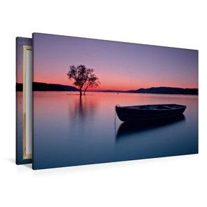 Premium Textil-Leinwand 120 cm x 80 cm quer Sonnenuntergang im S