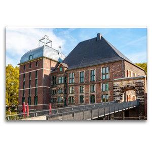 Premium Textil-Leinwand 120 cm x 80 cm quer Schloss Horst im gle