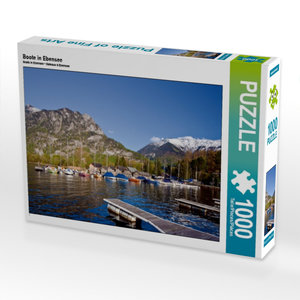 Boote in Ebensee 1000 Teile Puzzle quer