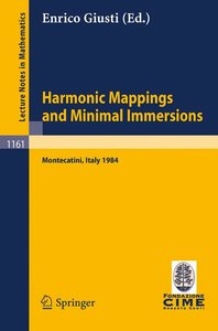 Harmonic Mappings and Minimal Immersion