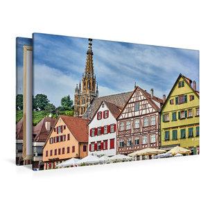 Premium Textil-Leinwand 120 cm x 80 cm quer Fachwerkhäuser am Ma