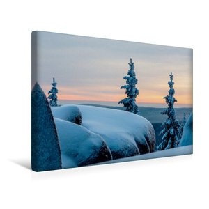 Premium Textil-Leinwand 45 cm x 30 cm quer Winterstimmung auf de