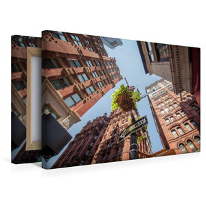 Premium Textil-Leinwand 45 cm x 30 cm quer One Way - New York