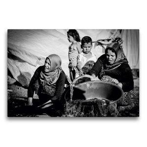 Premium Textil-Leinwand 75 cm x 50 cm quer Syrische Frauen