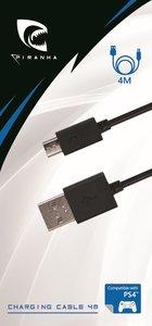 PIRANHA PS4 CHARGING CABLE 4 Meter, Daten- und Ladekabel für PS4