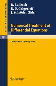 Numerical Treatment of Differential Equations