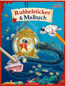 Käpt\'n Sharky: Rubbelsticker & Malbuch
