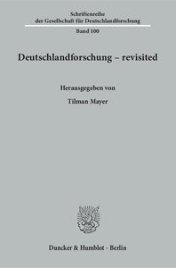 Deutschlandforschung - revisited.