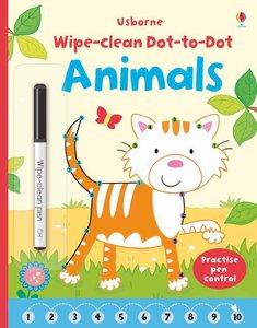 Wipe-clean Dot-to-dot Animals, w. pen
