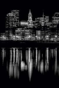 Premium Textil-Leinwand 60 cm x 90 cm hoch BOSTON Abendliche Sky