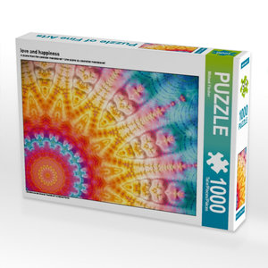 love and happiness 1000 Teile Puzzle quer
