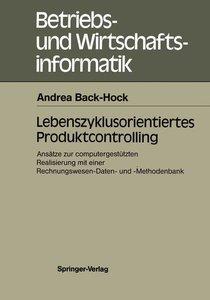 Lebenszyklusorientiertes Produktcontrolling