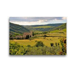 Premium Textil-Leinwand 45 cm x 30 cm quer Kloster Sant Antimo ?