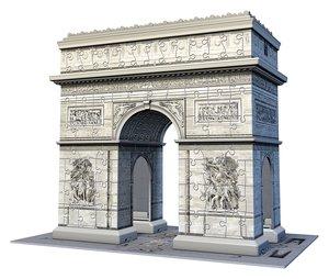 Ravensburger 125142 3D Puzzle Arc de Triomphe 216 Teile