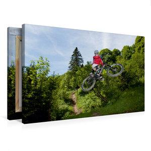 Premium Textil-Leinwand 75 cm x 50 cm quer Les Gets/France